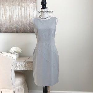Calvin Klein Grey Sleeveless Career Sheath Dress